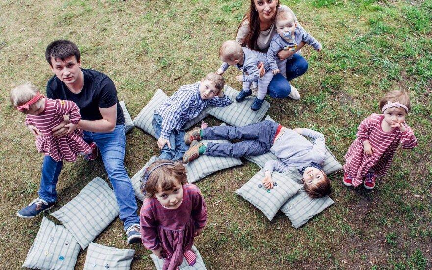 Septynių vaikų mama S. Daukantaitė: vaikai mane pavertė tikslo žmogumi