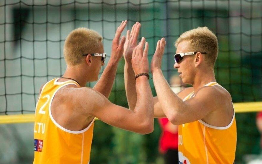 Lukas Každailis (kairėje) ir Arnas Rumševičius