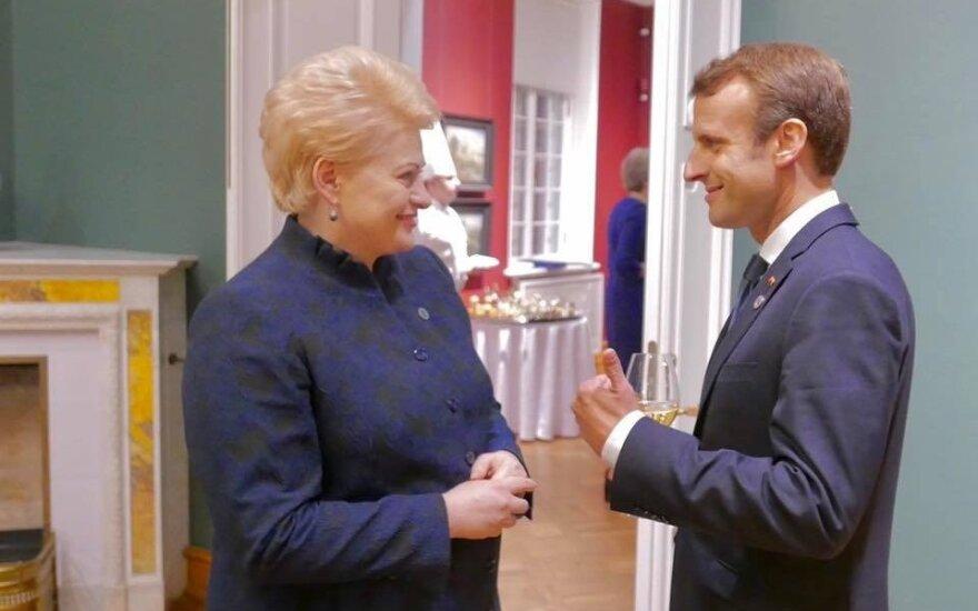 Dalia Grybauskaitė and Emmanuel Macron