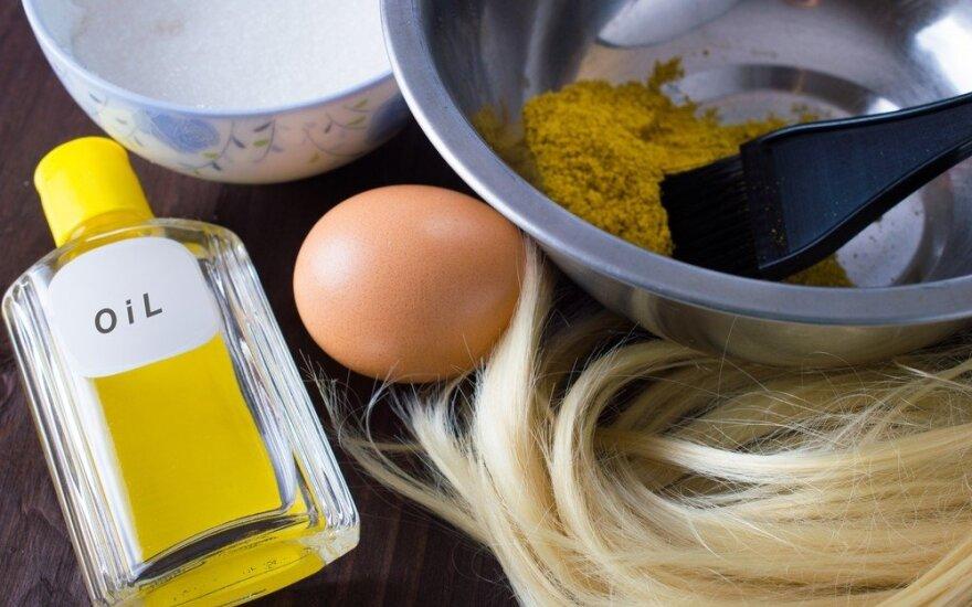 Greitam plaukų augimui – kaukė vos iš trijų komponentų