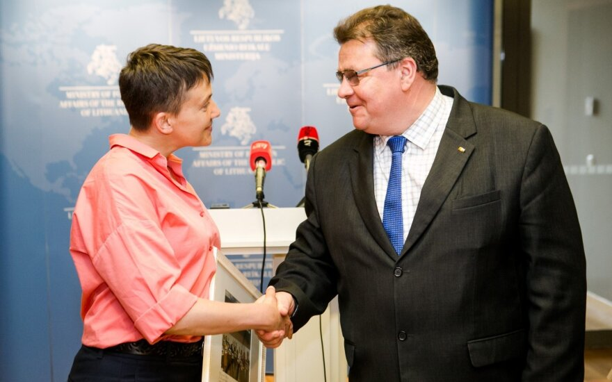 Nadežda Savčenko and Linas Linkevičius