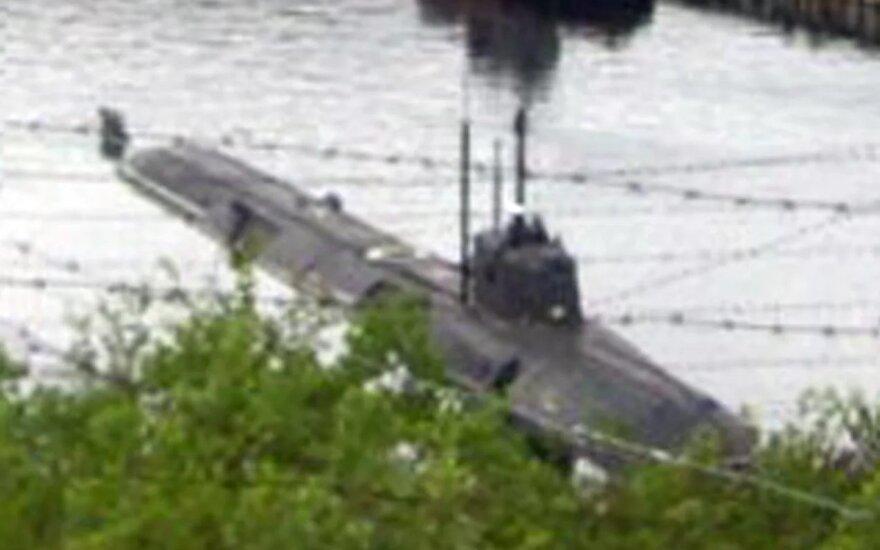 Šoigu – apie gaisrą Rusijos povandeniniame laive