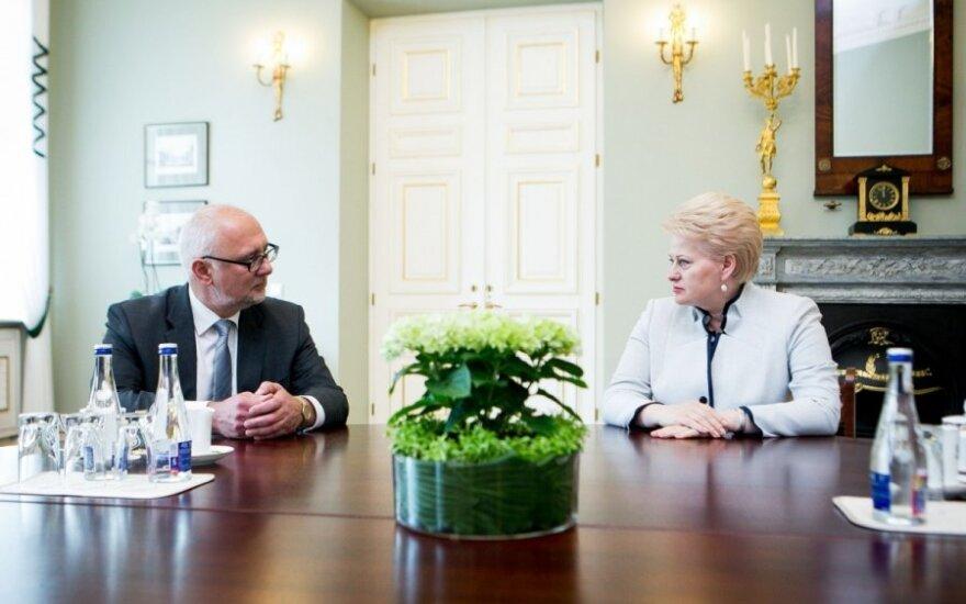 Dainius Pavalkis and Dalia Grybauskaitė