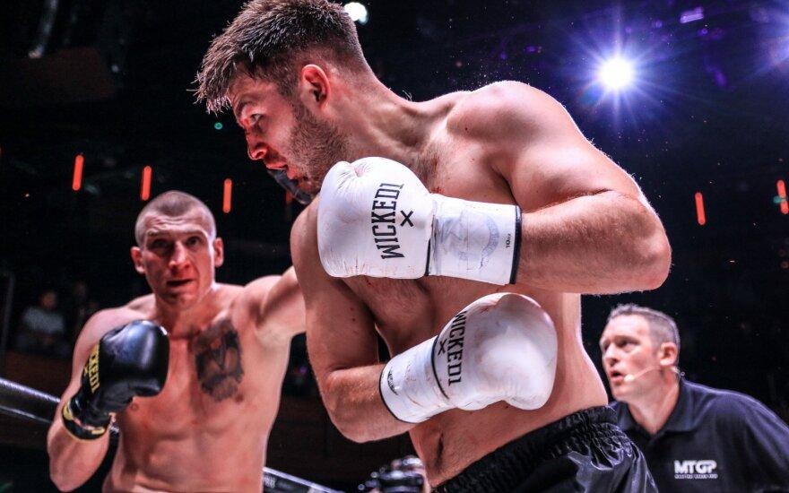 MTGP kikbokso kova dėl čempiono diržo: Arnoldas Oborotovas - Lukaszas Krupadziorowas (Foto: Natalia Rakowska)