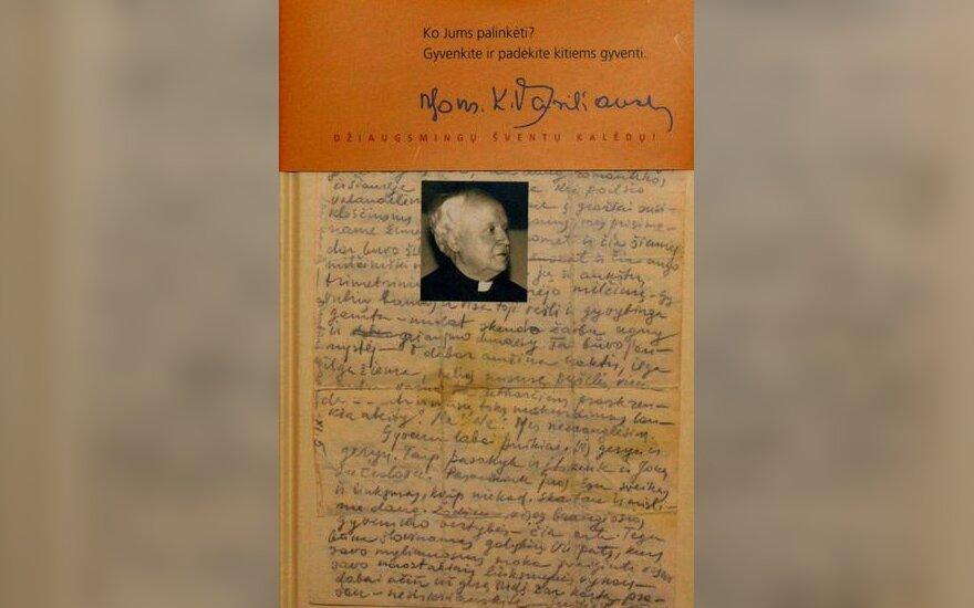 """Knygoje """"Iki švytėjimo"""" - Monsinjoro K. Vasiliausko jaunystės laiškai"""