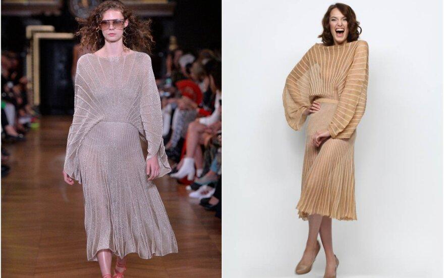 Stellos McCartney suknelė – tarsi iš akies lupta dizainerės Agnės Biskytės drabužio kopija?
