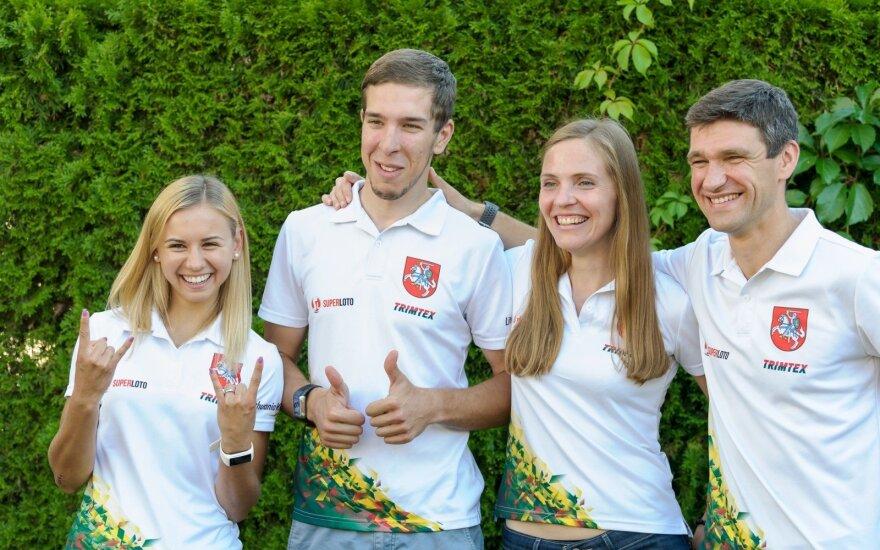Gabrielė Andrašiūnienė, Jonas Maišelis, Indrė Valaitė, Simonas Krėpšta / Foto: Orienteering.lt