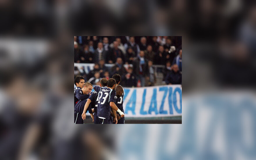 """""""Lazio"""" klubo žaidėjai ir jų aistruoliai"""