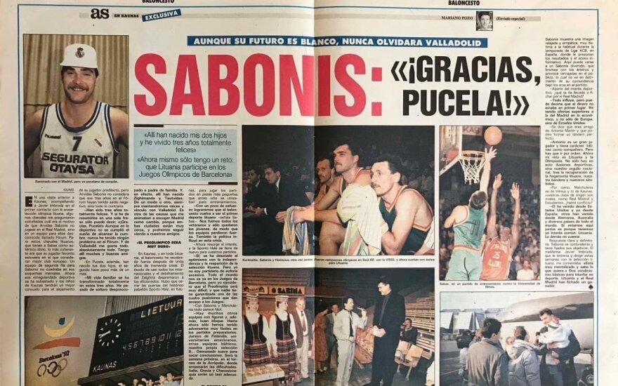 Arvydas Sabonis laikraščio AS reportaže 1992-ųjų birželio 3-4 dienomis