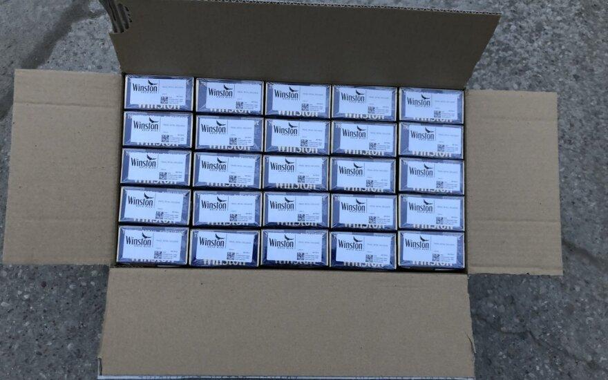 Kontrabandinių rūkalų sulaikoma daugiau, nes išaugo jų gamyba Baltarusijoje