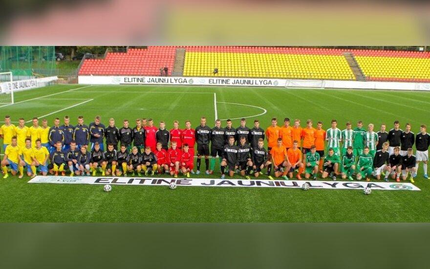 Elitinės jaunių futbolo lygos starte – baudinių čempionatas ir E. Jankausko testas