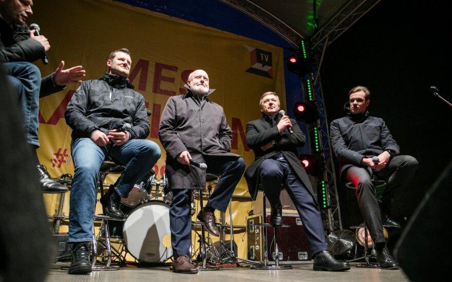 Gintautas Paluckas, Eugenijus Gentvilas, Ramūnas Karbauskis, Gabrielius Landsbergis