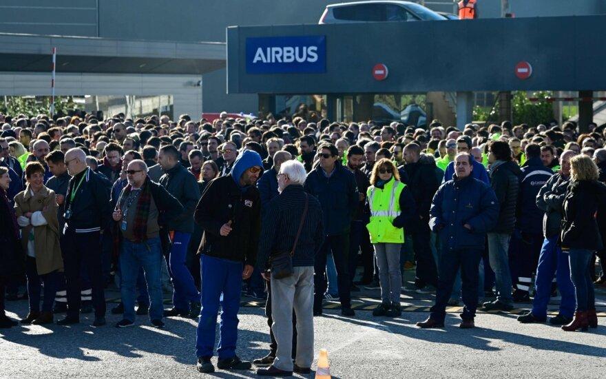 """""""Airbus"""" streikas"""