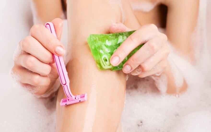Kaip tinkamai skusti, jog nebūtų pažeista oda ir neįaugtų plaukeliai?