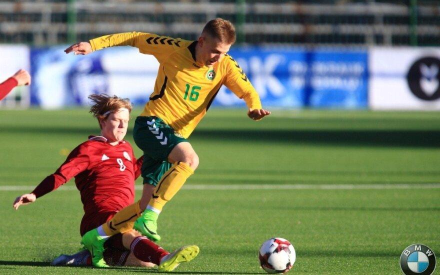 Lietuvos jaunimo U-21 futbolo rinktinės ir latvių dvikova
