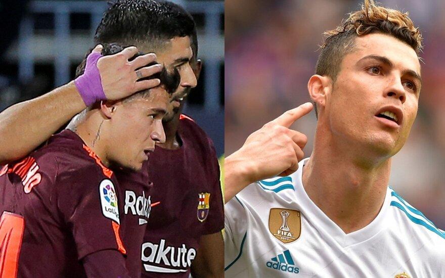 Philippe Coutinho, Luisas Suarezas ir Cristiano Ronaldo