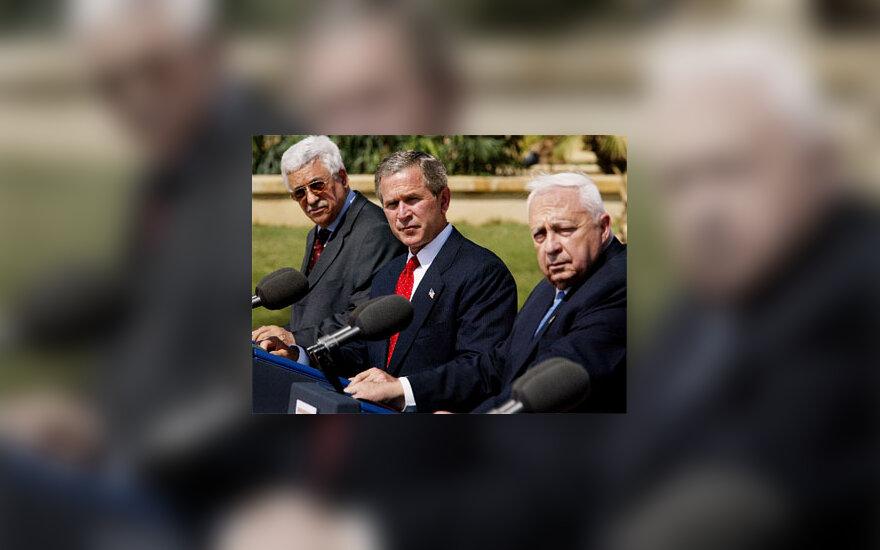M. Abbas, G. W. Bush, A. Sharon