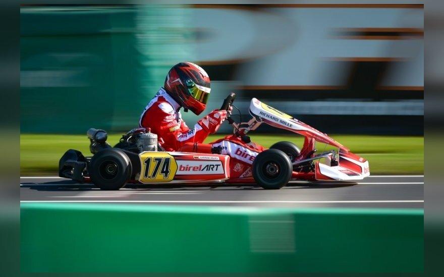 """G. Grinbergas – geriausių pasaulio """"Rok Junior"""" lenktynininkų septintuke"""
