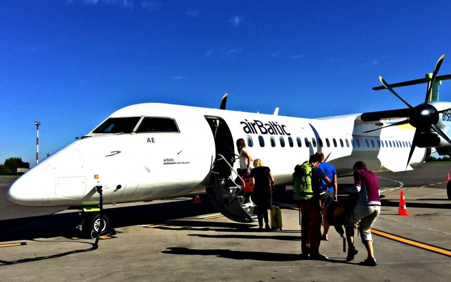 """Latvijos oro linijų bendrovė """"airBaltic"""" gali pasiekti rekordą"""
