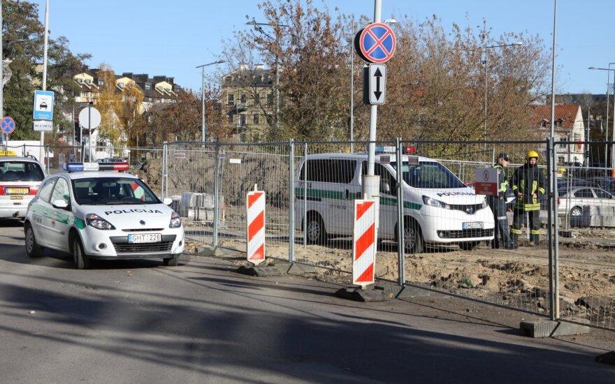 """Vilniaus centre rastas sprogmuo, įvestas planas """"Skydas"""""""