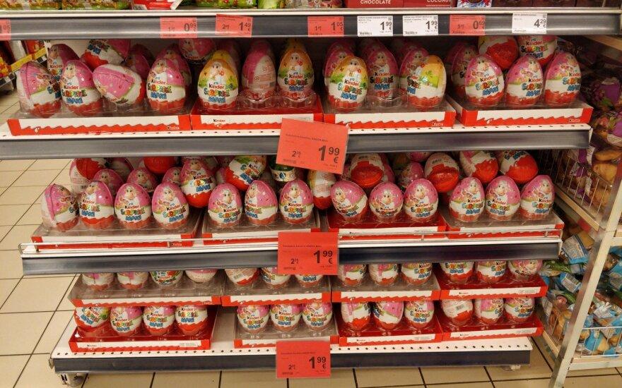Šokoladiniams kiaušiniams paskelbta akcija.