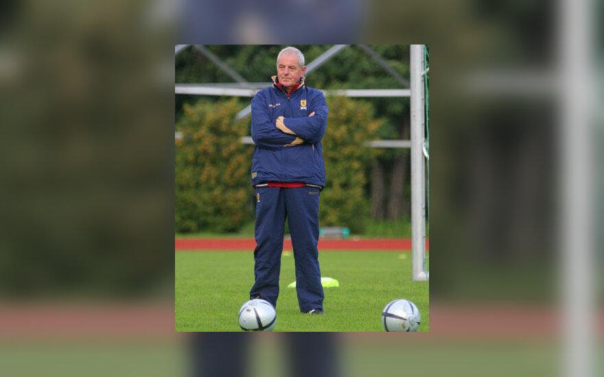 Škotijos futbolo rinktinės treneris Walteris Smithas