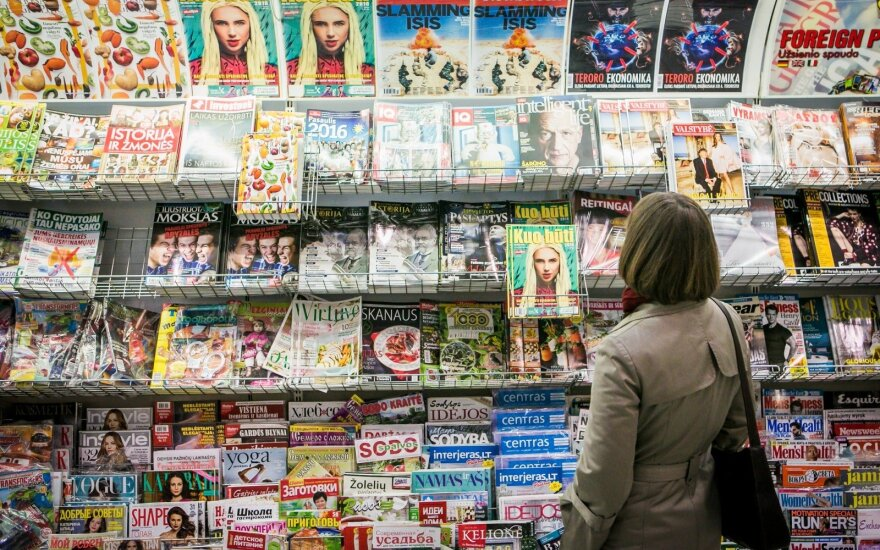 Magazines at a shopping centre