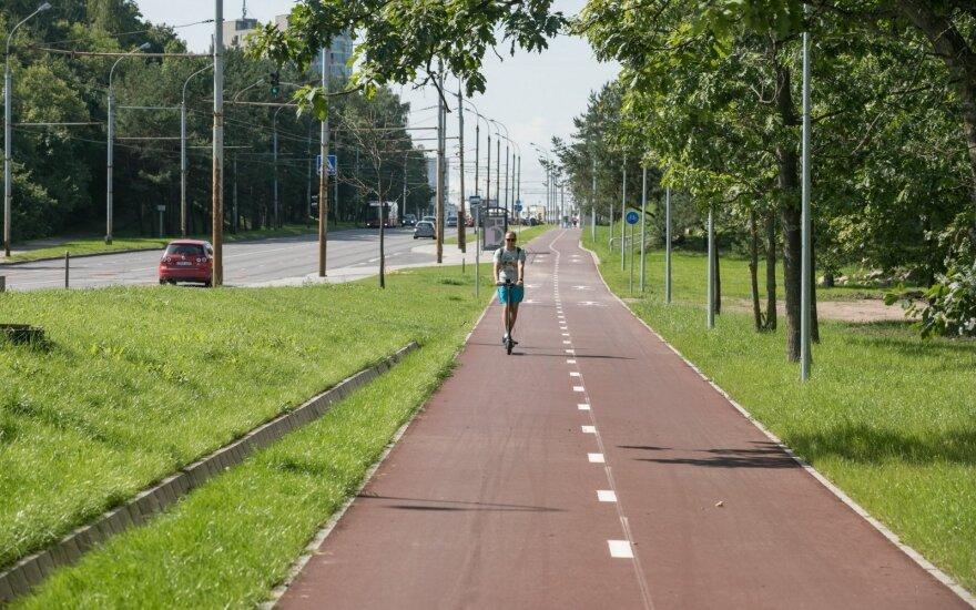 Žirmūnuose – naujas dviračių takas