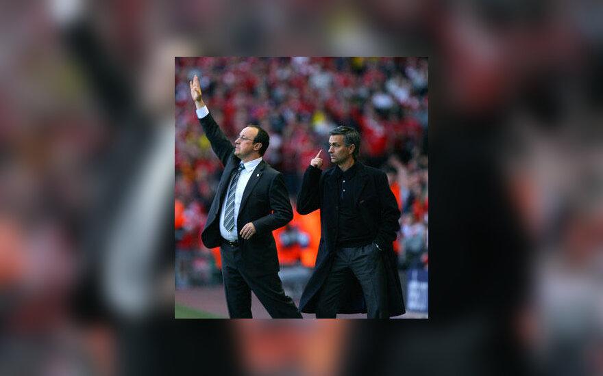Rafaelis Benitezas ir Jose Mourinho