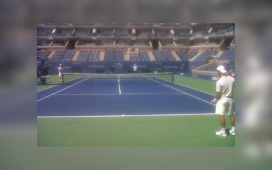 Ričardas Berankis ir Rogeris Federeris surengė treniruotę Niujorke