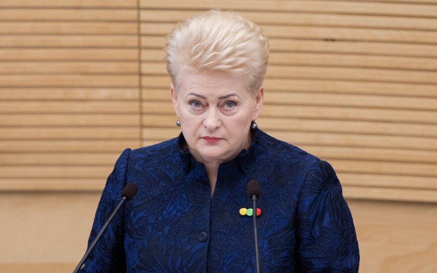 Seimo atstovas ES: Grybauskaitė gali pretenduoti į naujai kuriamą postą