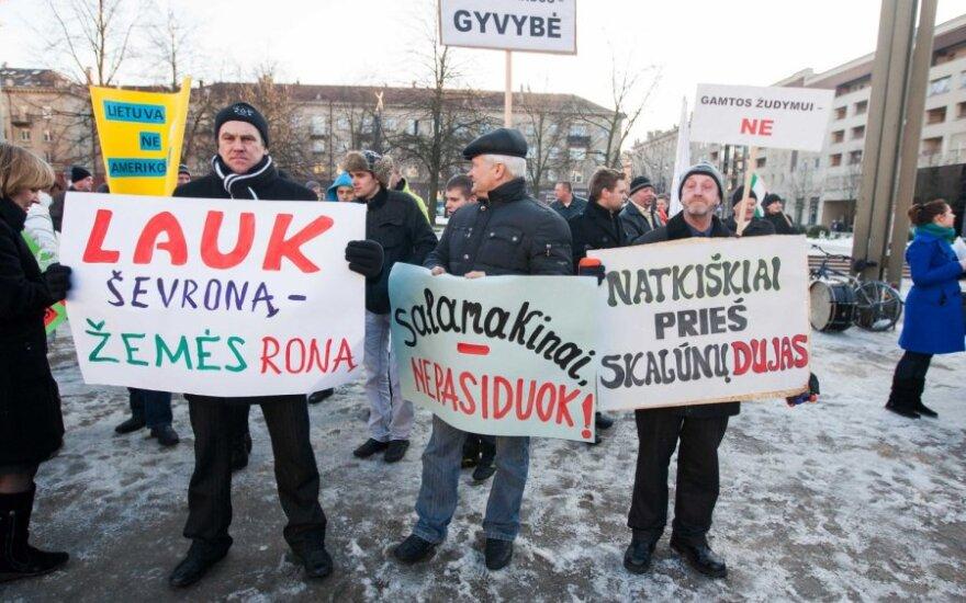 Protestas prieš skalūninių dujų žvalgymą