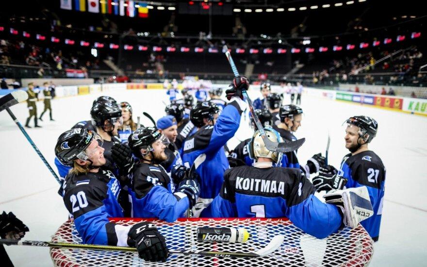 Estų pergalė prieš kroatus neleis atsipalaiduoti Lietuvos ledo ritulininkams