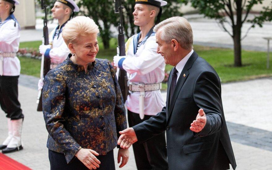 Pranckietis apie Grybauskaitę: savo priesaiką tesėjote tvirtai