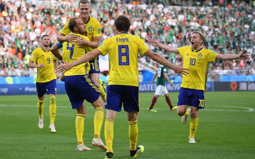 Švedai sutriuškino Meksiką, laimėjo grupę ir pateko į aštuntfinalį