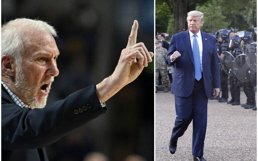 Greggas Popovichius, Donaldas Trumpas
