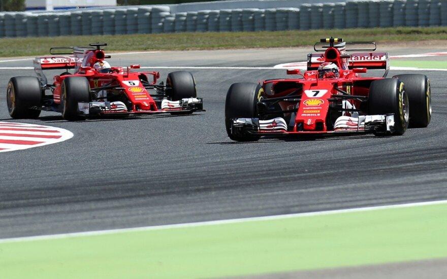 """Paskutinėje treniruotėje savo galimybes parodė ir """"Ferrari"""" komanda"""