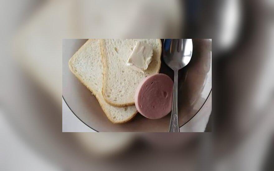 Ligoninės Vaikų ligų skyriaus pusryčiai