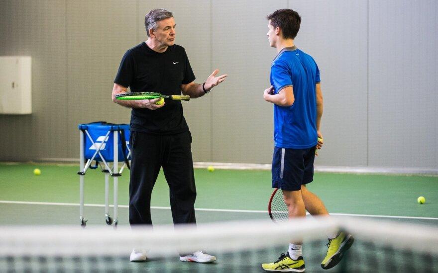 Remigijus Balžekas ir Matas Vasiliauskas (Balžeko teniso akademijos nuotr.)