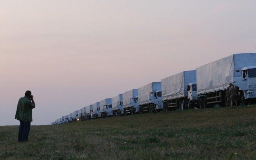 "Russian ""humanitarian aid"" convoy heads south"