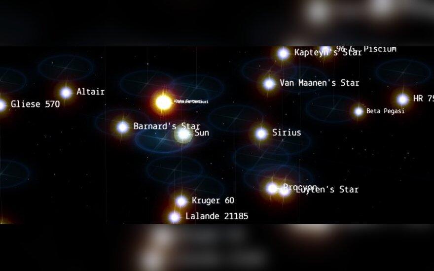 Virtualus žvaigždėlapis (Chromexperiments.com nuotr.)