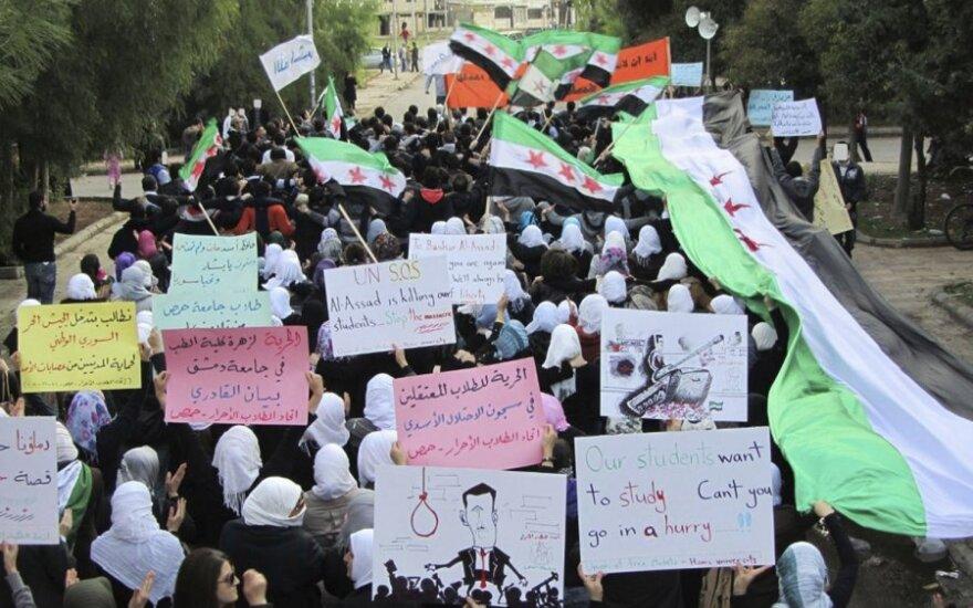 Protestuotojai Sirijoje