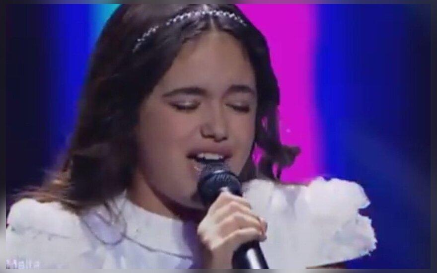 """""""Vaikų Eurovizijos"""" nugalėtoja Maltos atstovė Gaia Cauchi"""