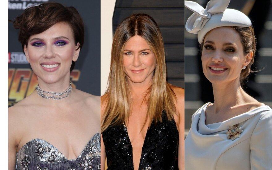 Scarlett Johansson, Jennifer Aniston, Angelina Jolie