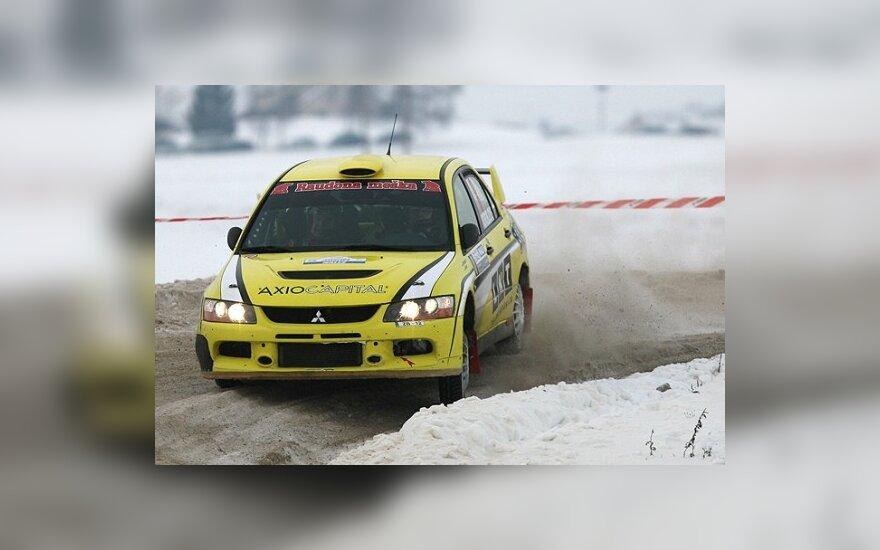 Janis Vorobjovs ir Guntars Zicans (Mitsubishi EVO IX)