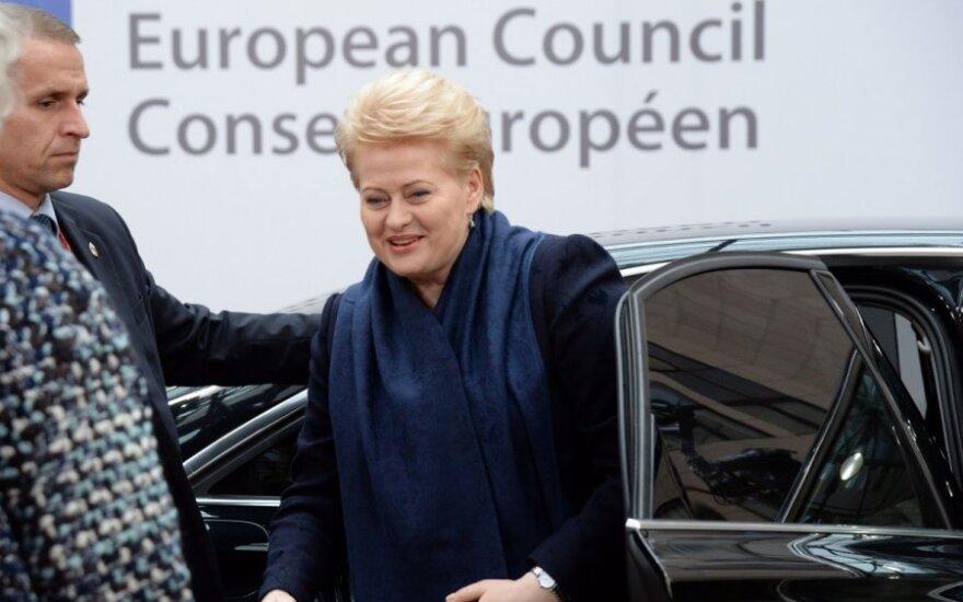 Dalia Grybauskaitė EVT susitikime