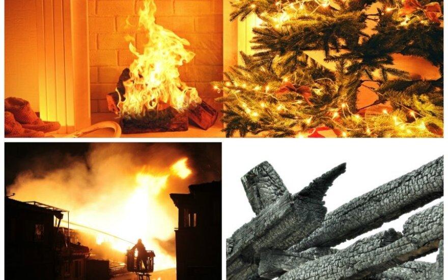 gaisras kalėdos