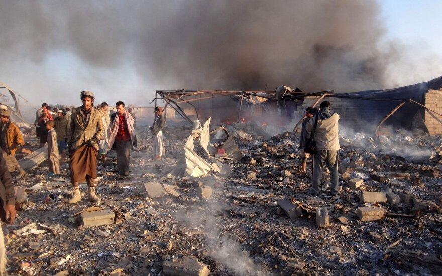 Jemene per arabų šalių koalicijos aviacijos antskrydį žuvo mažiausiai penkios moterys