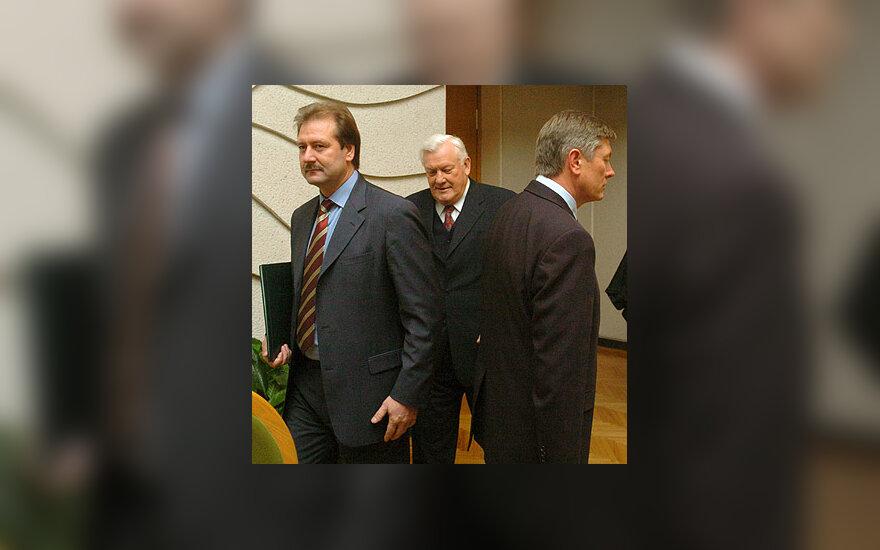 V.Uspaskichas, A.Brazauskas ir A.Paulauskas