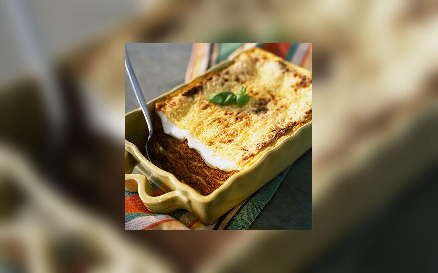 Itališkas maistas: lazanija